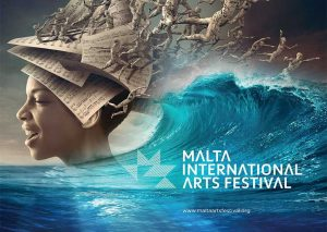 Banner for the Malta International Arts Festival.