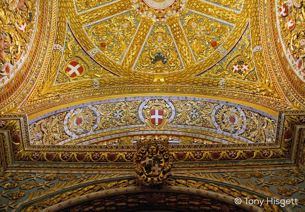 Detail of the ceiling of the St. John's Co-Cathedral.