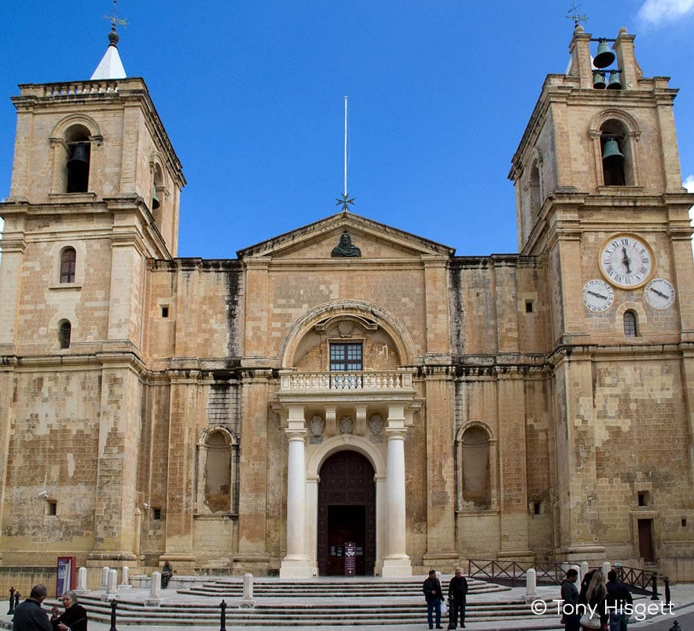 The St. John's Co-Cathedral's main entrance on Triq San Gwann.